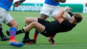 Barrett leads All Blacks' rout of Namibia