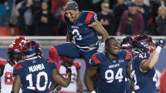 Vernon Adams Jr, Alouettes celebrate