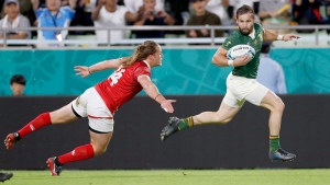 South Africa dominates 14-man Canada at Rugby World Cup