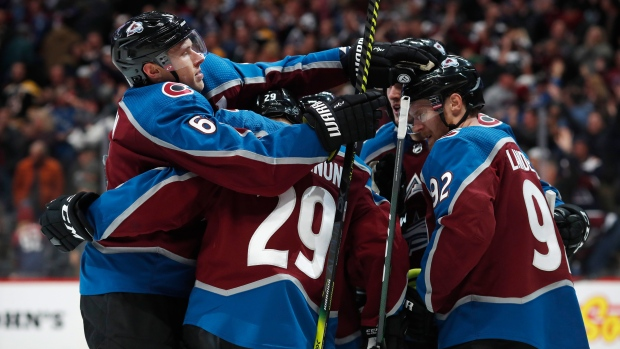 Colorado Avalanche celebrate