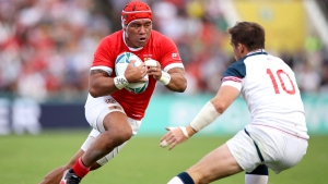 Tonga beats US for first win at Rugby World Cup