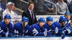 Mike Babcock and Maple Leafs bench