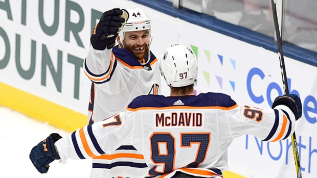 Zack Kassian and Connor McDavid