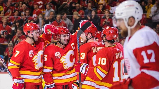 Flames Burn Red Wings