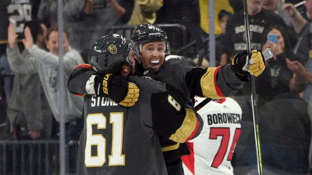 Mark Stone and Jonathan Marchessault