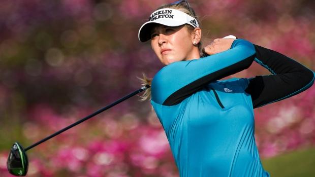Brooke Henderson hits hole-in-1, leads LPGA Shanghai