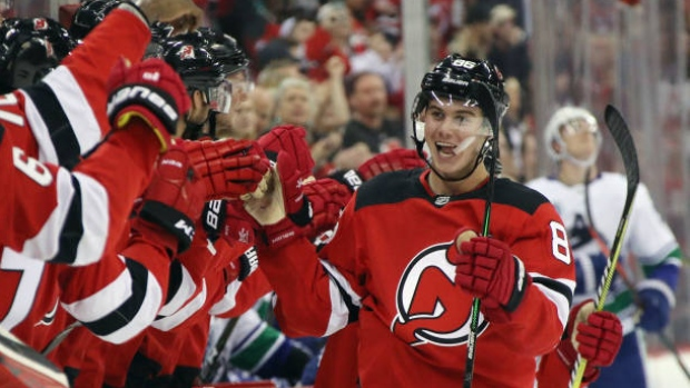 Jack Hughes Scores 1st Nhl Goal In New Jersey Devils Win Over Vancouver Canucks Tsn Ca
