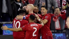 Toronto FC celebrates an extra time goal