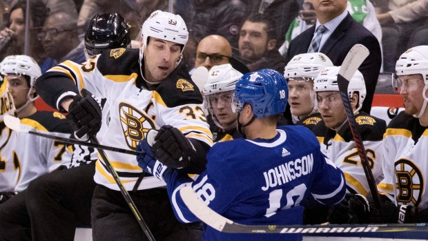 Toronto Maple Leafs F Andreas Johnsson leaves with leg injury - TSN.ca