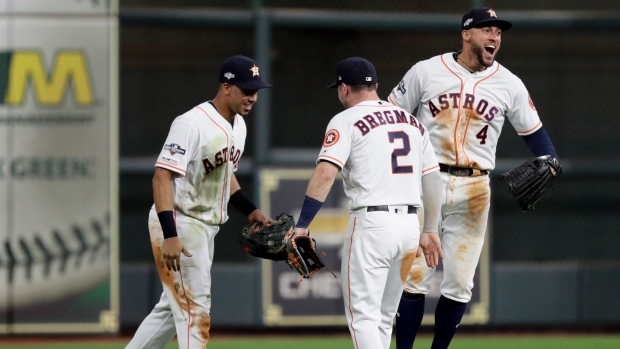 Michael Brantley, Alex Bregman, George Springer