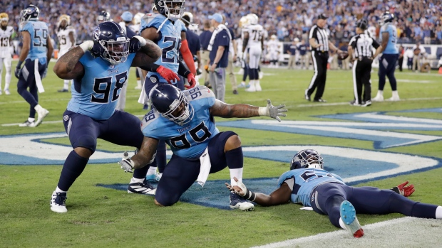 Tennessee Titans celebrate