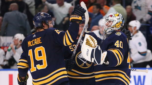 Eichel's second goal lifts Sabres past Sharks in OT