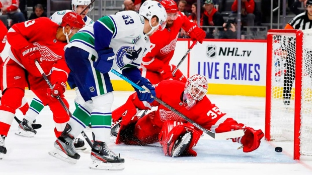 Horvat scores 3 in 3rd, Canucks rally past Red Wings 5-2 Article Image 0