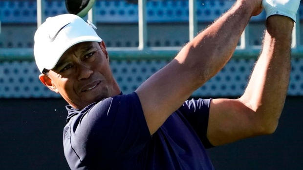 Zozo Championship: Tiger Woods takes lead in PGA's first tournament in Japan