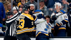 Bruins blank Blues 3-0 in 1st meeting since losing Cup final Article Image 0