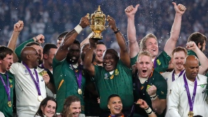 South Africa hammers England to capture third Rugby World Cup title