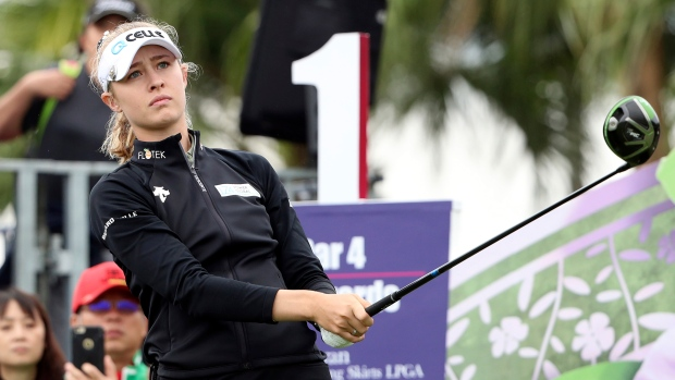Korda wins in Taiwan as caddie earns bragging rights over fiancée