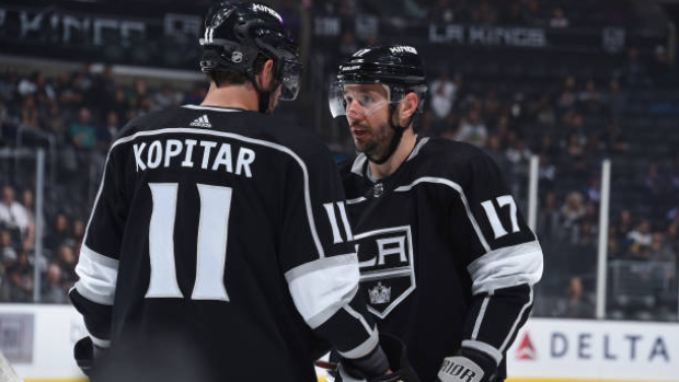 Anze Kopitar and Ilya Kovalchuk