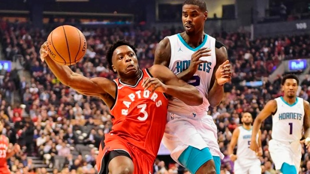 Anunoby has 24 points before injuring eye in Toronto Raptors' rout of Charlotte Hornets - TSN.ca