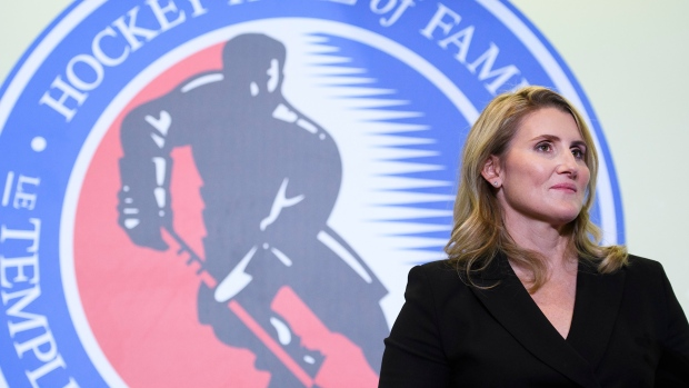 Hockey Hall of Fame inductee Hayley Wickenheiser