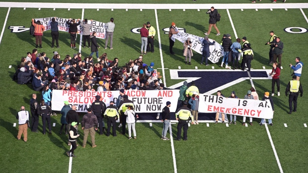 Yale-Harvard game interrupted by climate change protesters