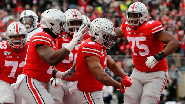 Ohio St Jumps Lsu To No 1 In Cfp Rankings With 2 Weeks Left Tsn Ca