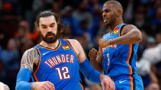 Steven Adams Chris Paul