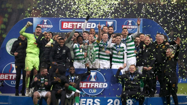 Celtic celebrates Scottish Cup win