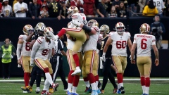 Robbie Gould and 49ers Celebrate