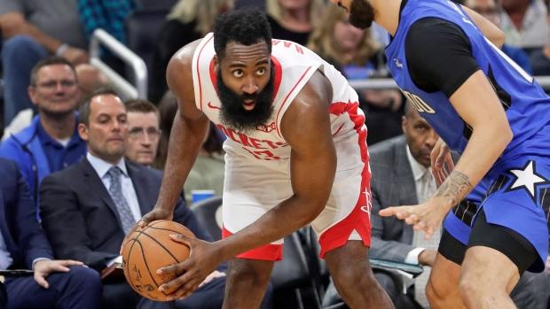 Harden 10顆三分54+7,Westbrook 23分,Aaron Gordon 21,火箭輕取魔术(影)