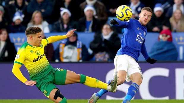 Leicester draws with Norwich as gap to Liverpool widens