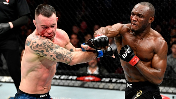 Colby Covington (left) and Kamaru Usman