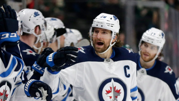 Wheeler dealer. Blake Wheeler passes Ilya Kovalchuk as the Jets all-time scoring leader