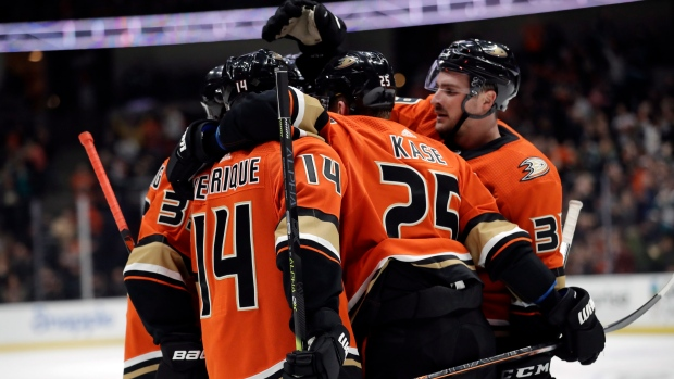 Vegas hosts Anaheim after Stone's 2-goal game