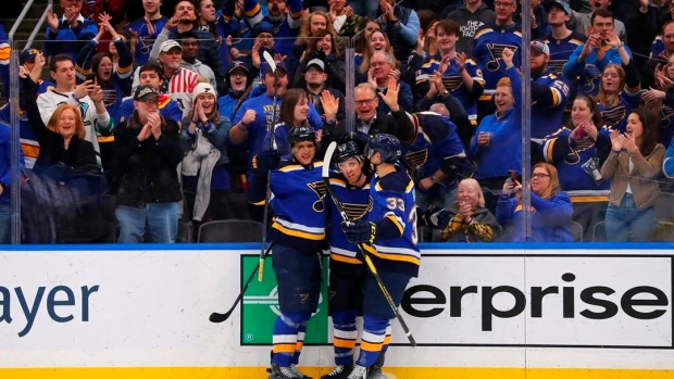 Schwartz scores twice, Blues beat Jets for 8th straight win Article Image 0