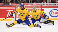 Sweden's Philip Broberg and Hugo Alnefelt