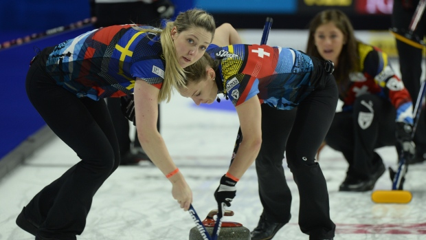 Eve Muirhead, Lauren Gray and Jennifer Dodds