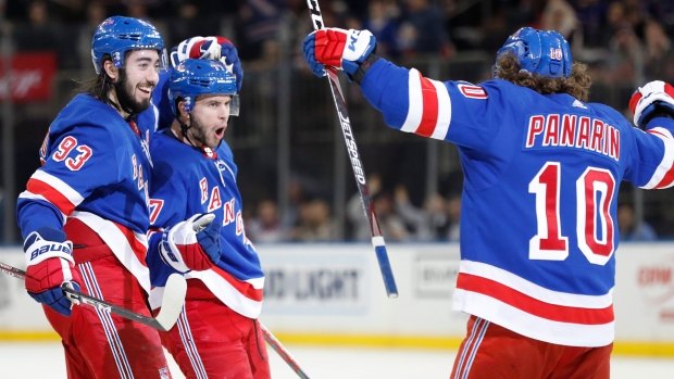 Tony Deangelo S Five Point Night Leads New York Rangers Past New Jersey Devils Tsn Ca