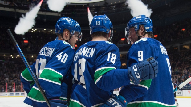 Virtanen's second period goal helps Canucks overtake Coyotes 3-1