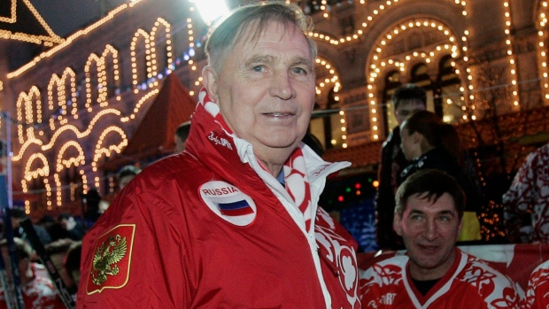 Soviet hockey coach Viktor Tikhonov  whose teams won 3 Olympic gold    Viktor Tikhonov Olympics