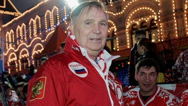 Soviet hockey coach Viktor Tikhonov  whose teams won 3 Olympic gold    Viktor Tikhonov Olympics