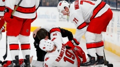 Hurricanes defender Hamilton breaks bone in left leg Article Image 0