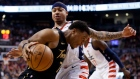 Kyle Lowry drives to the net against Wizards guard Isaiah Thomas Friday.