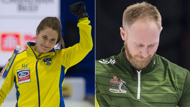 Anna Hasselborg and Brad Jacobs