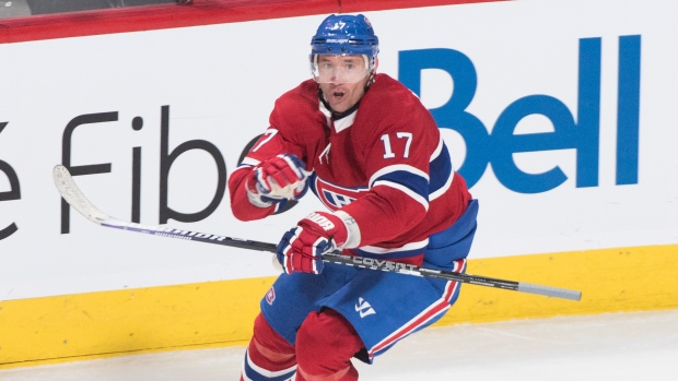 Montreal Canadiens send Nate Thompson to Philadelphia Flyers