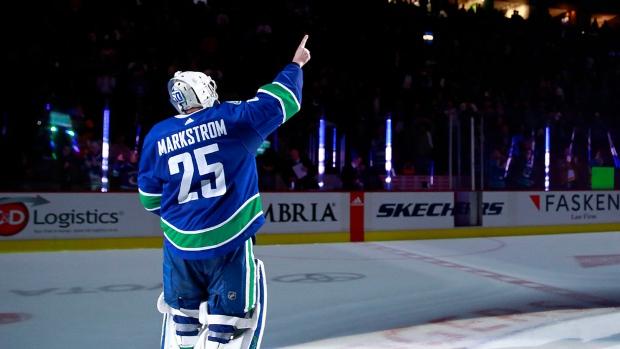 Jacob Markstrom S 49 Save Shutout Caps Special Night For Vancouver Canucks Tsn Ca