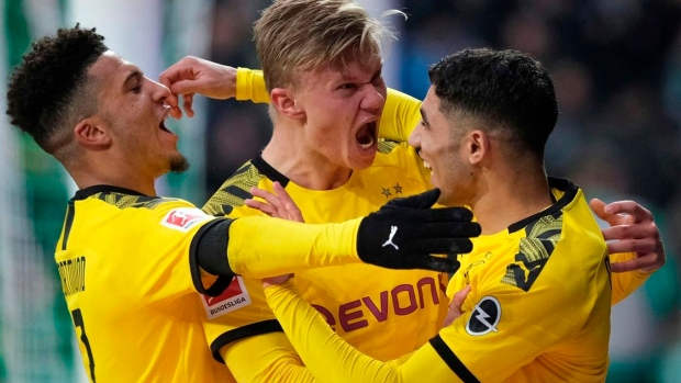 Haaland scores winner to lift Dortmund to 2nd in Bundesliga Article Image 0