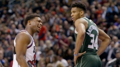 Kyle Lowry and Giannis Antetokounmpo
