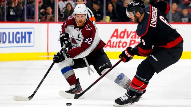 Girard's late goal lifts Avalanche over Hurricanes