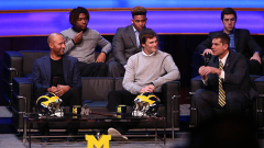 Derek Jeter and Tom Brady at University of Michigan event